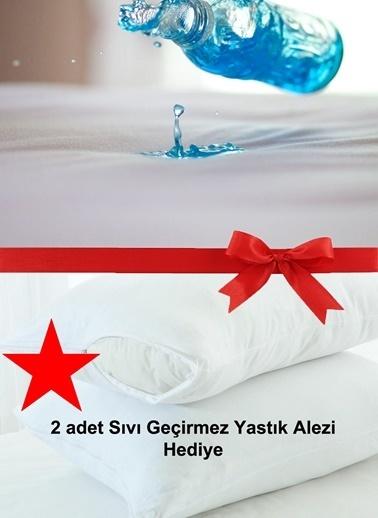 Alla Turca 2 Yastık Alezi + Tek Kişilik Sıvı Geçirmez Alez Beyaz